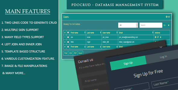 PDOCrud - CRUD application & Form generator for PHP and